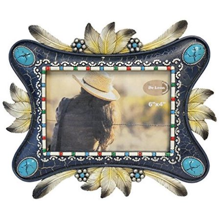 DeLeon Collections 13393 6 x 4 in. Feather & Concho Photo Frame Home (Concho Collection)