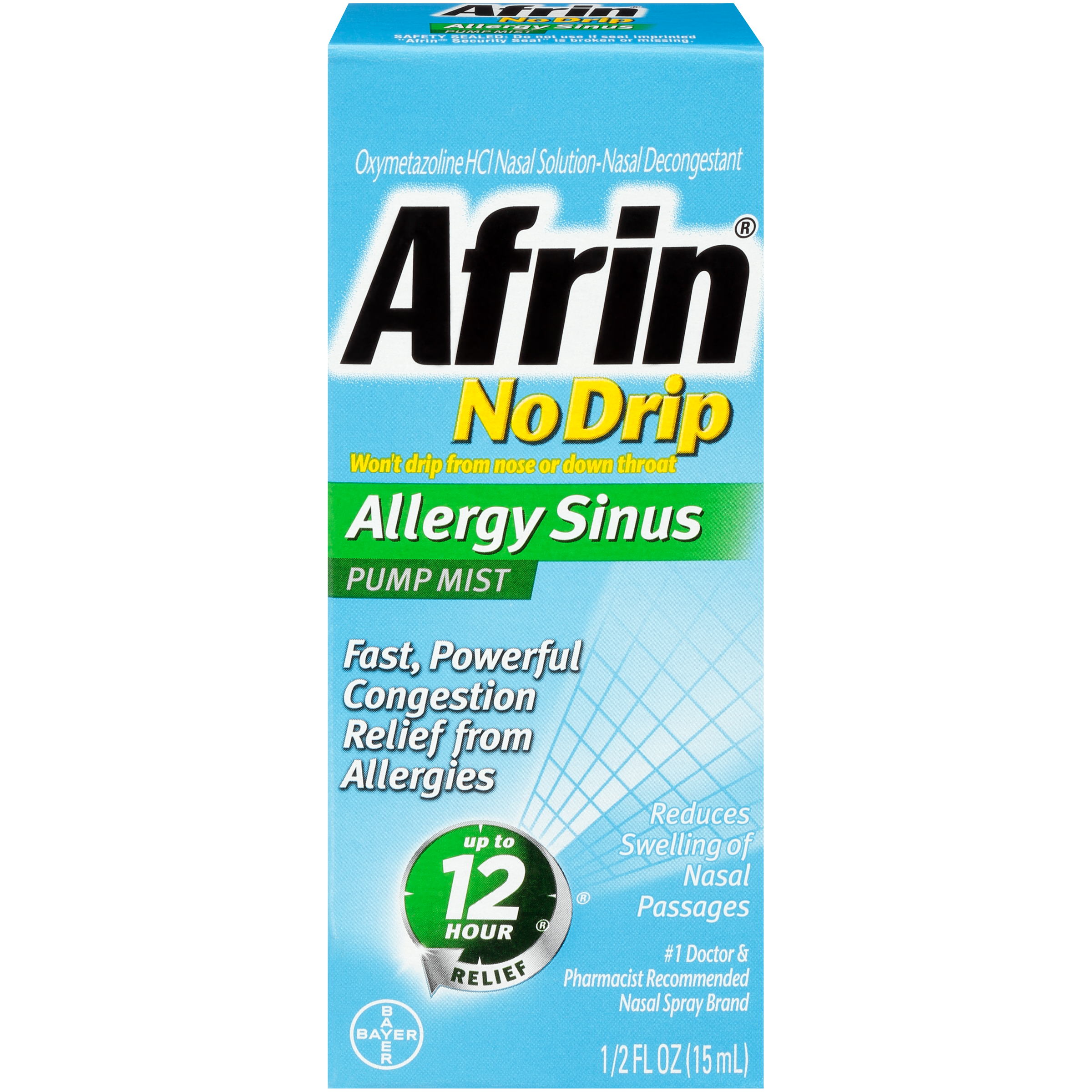 Afrin No Drip Allergy Sinus Pump Nasal Mist, Congestion Relief, 1ct