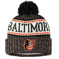 Baltimore Orioles New Era Youth Sport Team Cuffed Knit Hat - Black - OSFA