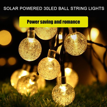 Hilitand Solar Powered 30LED Globe Balls  String Lights Home Garden Yard Party Lamp Decoration, LED String Lights, Decor String Lights ()