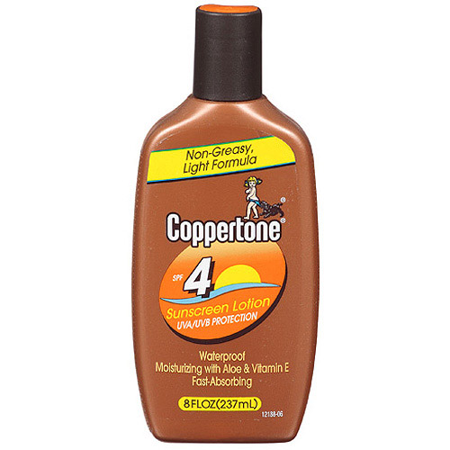 Coppertone Sunscreen SPF 4, 8 oz