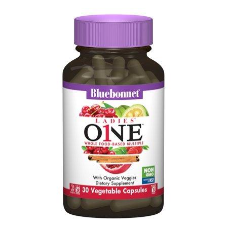 Bluebonnet Kosher Ladies One Whole Food-Based Multiple Vitamin - 30 Vegetable Capsules