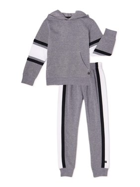 Cheetah Boys Fleece Hoodie and Jogger Pants Sweatsuit, 2-Piece Athletic Set, Sizes 2T-18 & Husky