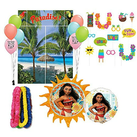 Moana Party Supplies Photo Prop Scene Setter Birthday Party Balloon Decoration - Photo Balloons Cheap
