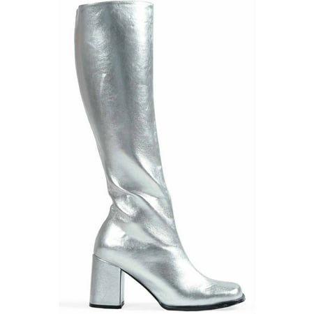 Gogo Silver Boots Women's Adult Halloween Costume Accessory - Costume White Boots
