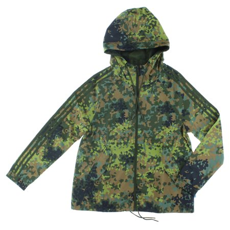 adidas womens allover camo windbreaker jacket multi color. Black Bedroom Furniture Sets. Home Design Ideas