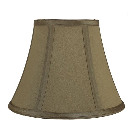 Urbanest Softback Bell Lampshade, Faux Silk, 5-inch by 9-inch by 7-inch, Taupe, Spider-fitter