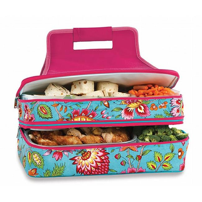 Picnic Plus ACM-721MT Entertainer Hot & Cold Food Carrier - Madeline Turquoise