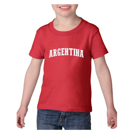 Argentina Heavy Cotton Toddler Kids T-Shirt Tee Clothing
