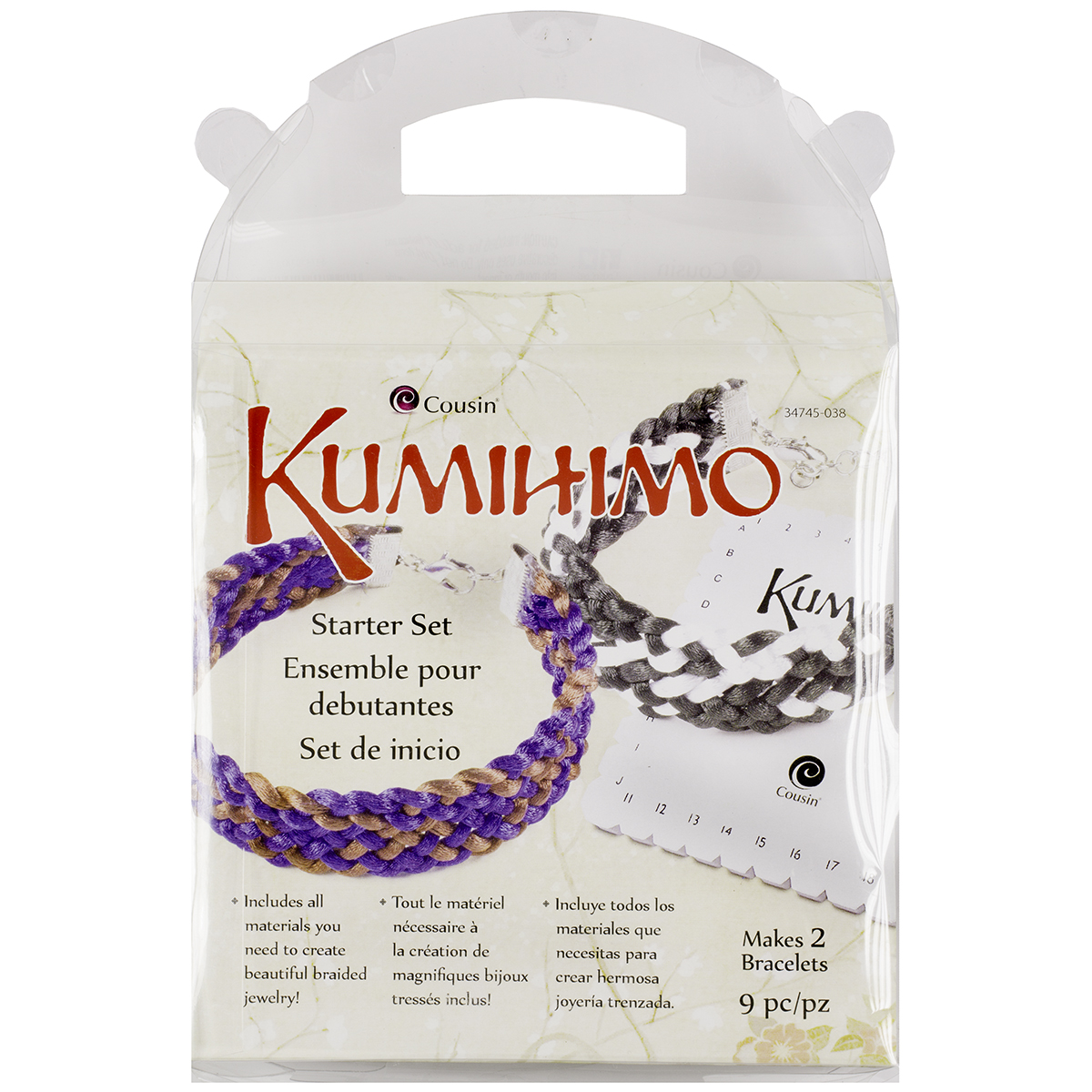 Kumihimo Starter Set, Square 9pcs