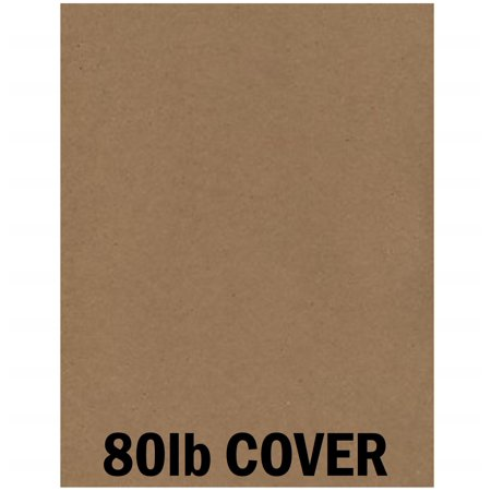 Hamilco Brown Colored Kraft Cardstock Paper - 8 1/2 x 11