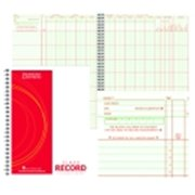 Hammond And Stephens P Large Square Format Wire-O Bound Class Record Book, 35 Students, Green & Red
