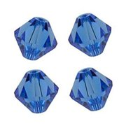 36 pcs Swarovski crystal 5328 / 5301 6mm SAPPHIRE (206) Genuine Loose Bicone Beads