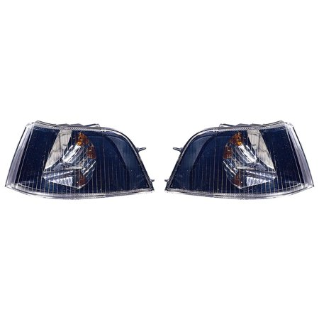 CarLights360: For 2001 2002 2003 2004 VOLVO S40 Signal Corner Light Pair Driver and Passenger Side W/ Bulbs (Black Housing) (DOT Certified) Replaces VO2520110 VO2521110 Volvo S40 Car Driver