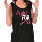 Brisco Brands Fight for It Breast Cancer BCA Tank Top T-Shirt For Women