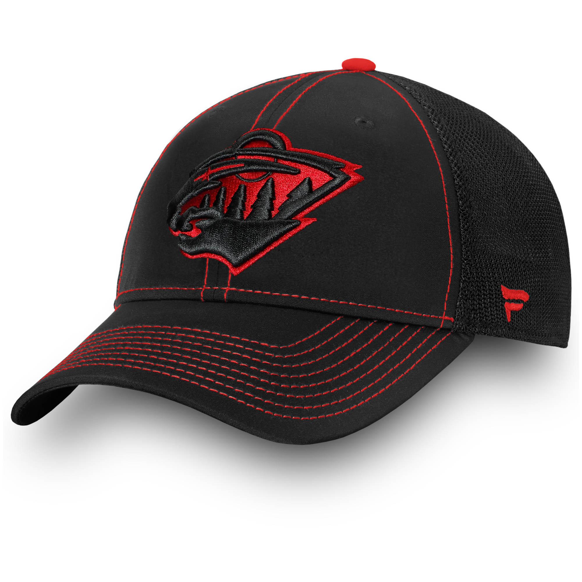 Minnesota Wild Fanatics Branded Iconic Agile Flex Hat - Black