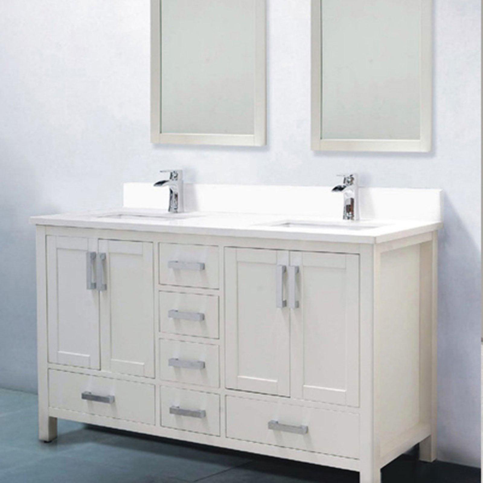 Adornus Astoria 59 In Double Bathroom Vanity With 2 Mirrors