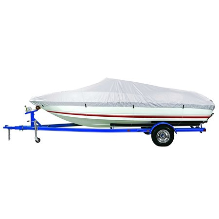(Goodsmann Reflective Polyester Boat Cover A- Fits 14'-16' V-Hull Fishing Boats - Beam Width to 90