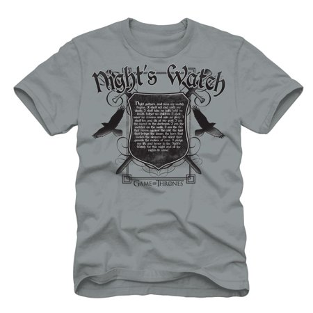 Game of Thrones Men's Gray Night Watch T-Shirt - Game Of Thrones Outfits
