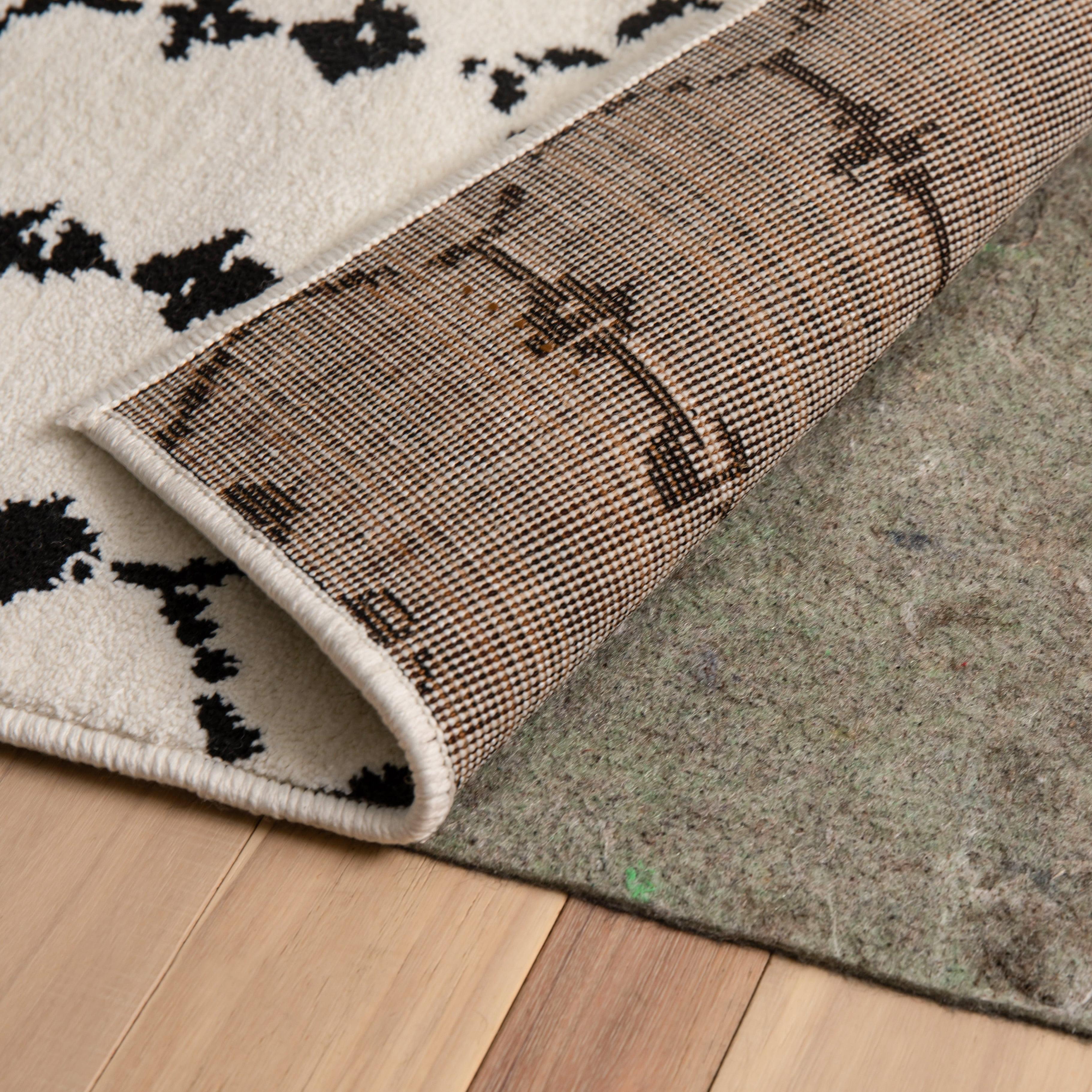 Non Slip Cushion Rug Pad, Stop Rug From Slipping On Laminate Flooring