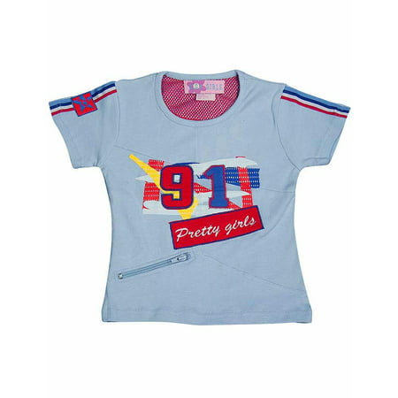 Giga - Little Girls Short Sleeved Tee Light Blue Pretty Jeans / 4](Really Pretty Teenage Girls)