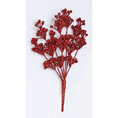 The Holiday Aisle Glitter Berry Pick Branch (Set of 3)