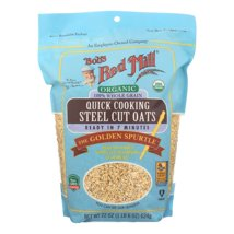 Oatmeal: Bob's Red Mill Quick Cooking Steel Cut Oats Organic