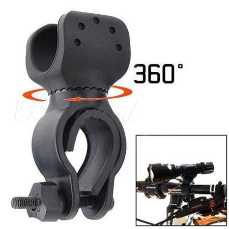 360 Degree Led Flashlight - 360° Rotation Bicycle LED Torch Lamp Flashlight Mount Bracket Holder Torch Clip