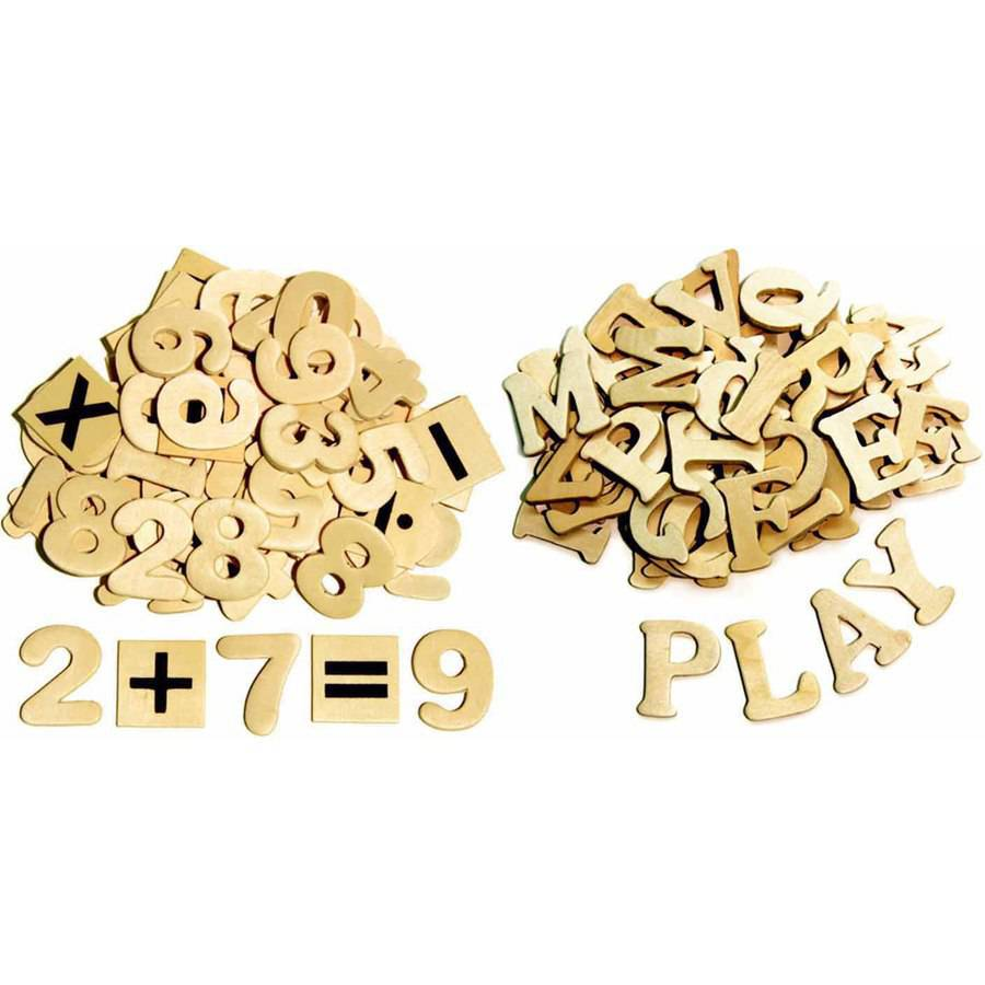 "Chenille Kraft Wood Craft Letters and Numbers, 1.5"", Natural Wood, Pack of 200"