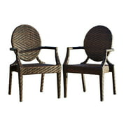 Patio Chair in Brown - Set of 2