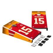 Patrick Mahomes Kansas City Chiefs Desktop Cornhole Game Set