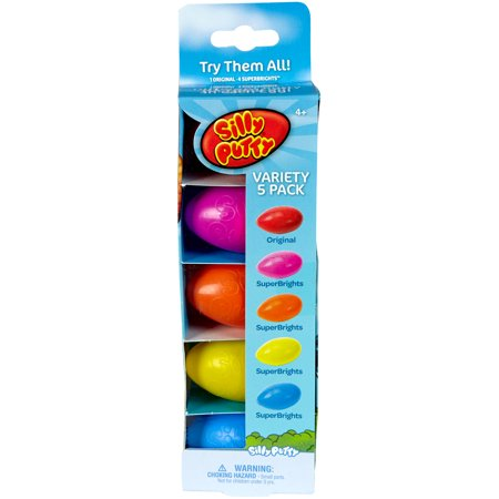 Silly Putty Party Pack 5/Pkg- (Bulk Silly String)