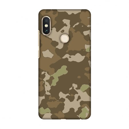 Xiaomi Redmi Note 5 Pro Case - Camou- Chocolate brown, Hard Plastic Back Cover, Slim Profile Cute Printed Designer Snap on Case with Screen Cleaning Kit