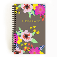 Personalized Back To School 5 x 8 Notebook - Color Burst