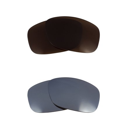 Half Jacket Replacement Lenses Bronze Brown & Silver by SEEK fits OAKLEY