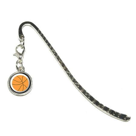 Basketball Metal Bookmark With Charm
