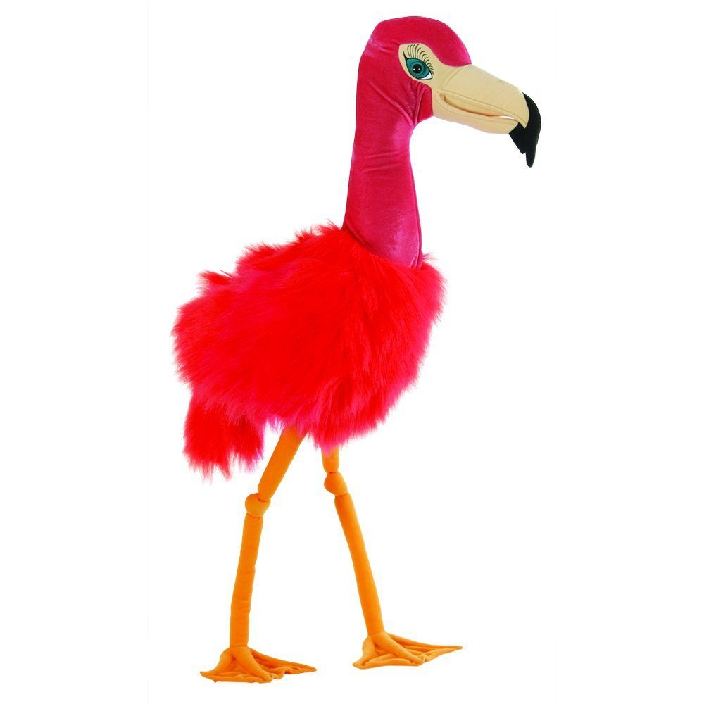 Flamingo Giant Puppet Stuffed Animal by Puppet Company (008203) by Puppet Company