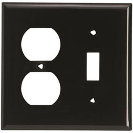 Cooper Wiring 5138Bk Wall Plate 2 Gang Toggle   Duplex Standard   Black Pack Of 10