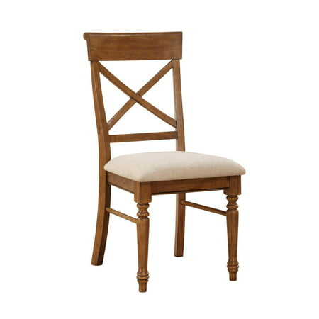 A La Carte  Side X Back Ready To Assemble Chair With Upholstered Seat Finish Brown Quantity 2 Pack