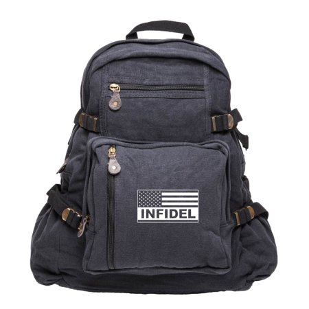 Tactical American Flag Army Sport Heavyweight Canvas Backpack (Best Tactical Backpack 2019)