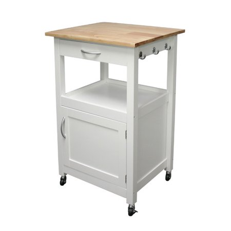 Ehemco Kitchen Island Cart With Natural Wood Top
