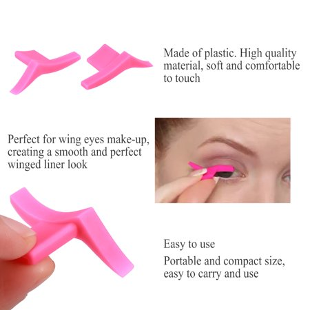 Walfront Classic Winged Eyeliner Stamp Dramatic Eyeliner Stencil Seal Wing Eyes Template Cosmetic Tool Cosmetic Tool Eyeliner Pen Set Wing Eyes