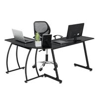 Deals on SmileMart L-Shaped Corner Home Office Desk