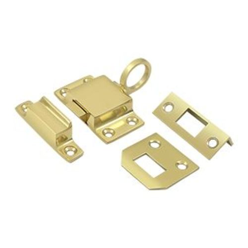 Deltana TC80 Solid Brass Transom Catch for Cabinet Doors or Small Windows