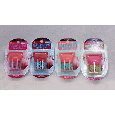 Maybelline Baby Lips Balm Balls, Pack of 4 (Maybelline Baby Lips Lip Balm Price Philippines)