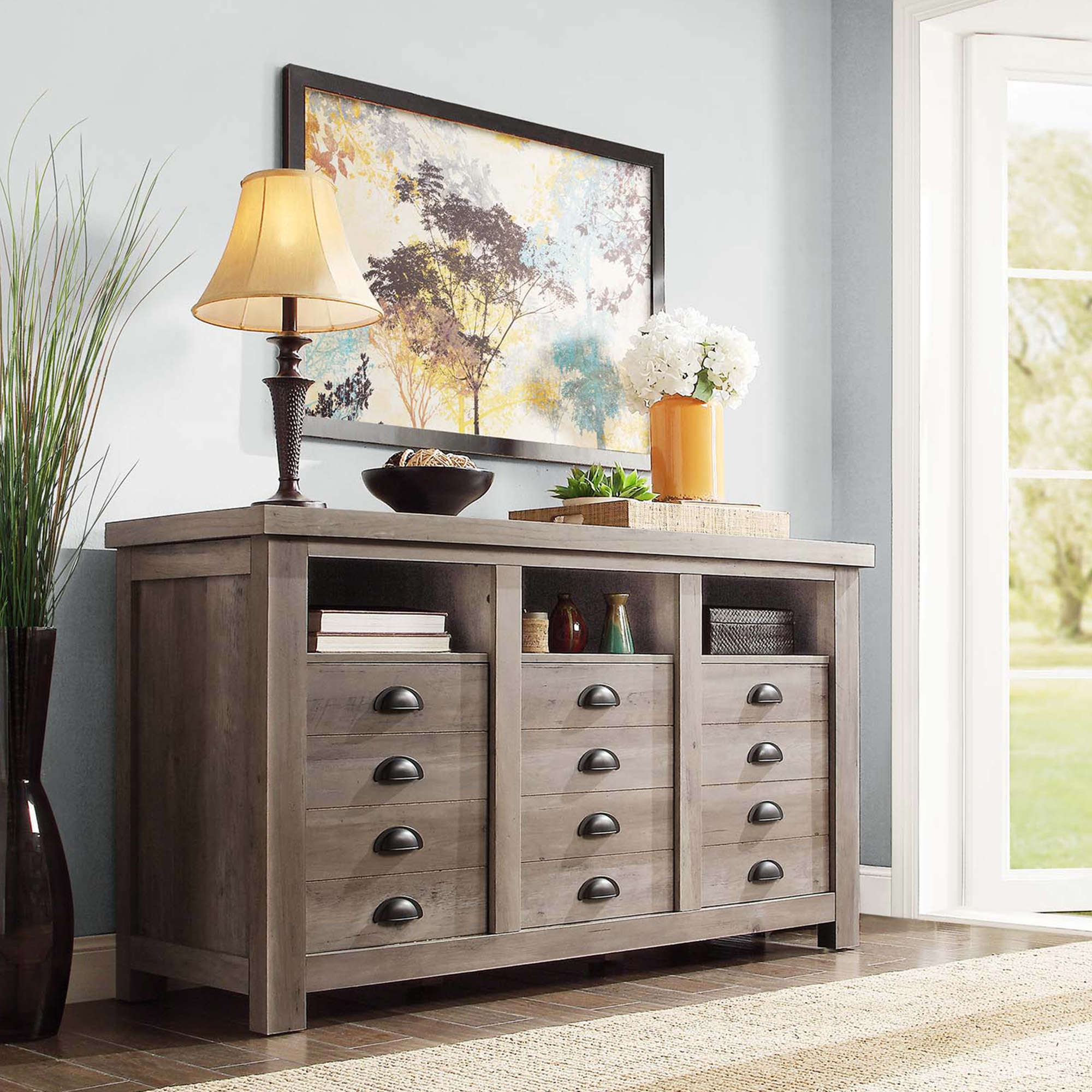 Better Homes And Gardens Granary Modern Farmhouse Printers TV Cabinet,  Multiple Finishes   Walmart.com