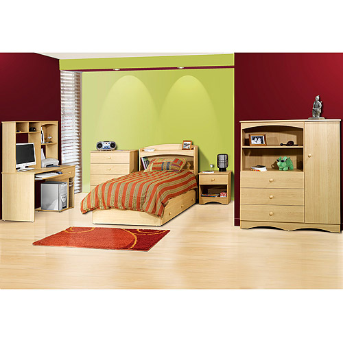 Alegria Bedroom Collection Set, Natural Maple