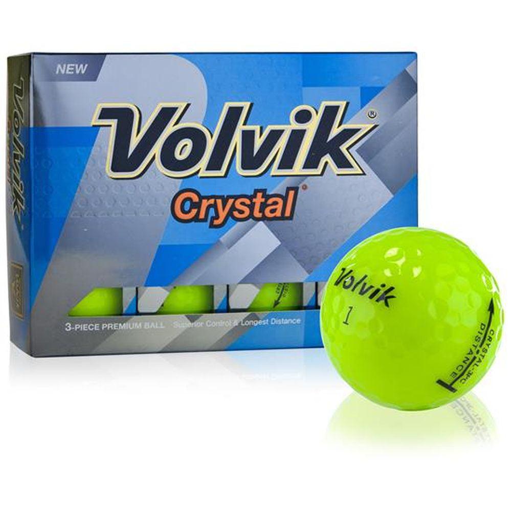Volvik Crystal Golf Balls (Green, 3 Piece, 12pk, 2018) 1DZ NEW