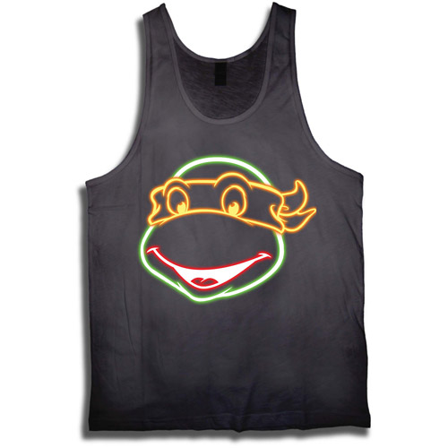 License Mens Tmnt Neon Face Graphic Tank Top
