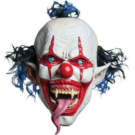 Vintage Clown Mask (Snake Tongued Evil Clown Creepy Costume)